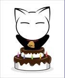 Katzenlogoillustration auf weißem Hintergrund lizenzfreies stockbild