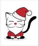 Katzenlogoillustration auf weißem Hintergrund stockbild
