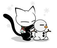 Katzenlogoillustration auf weißem Hintergrund lizenzfreies stockfoto