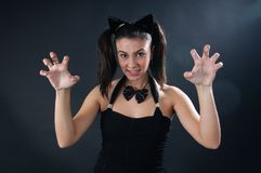 Katzenmädchen lizenzfreie stockfotografie