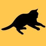 Katzensammlung - Schattenbild Stockbild