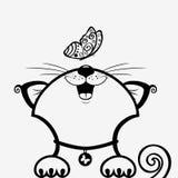 Katzenschwarzes Lizenzfreie Stockfotografie