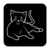 Katzenschwarzes Stockfoto