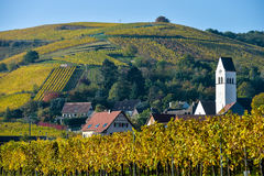 Katzenthal in the vineyard of Alsace Stock Image