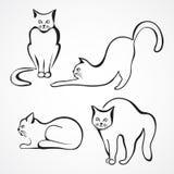 Katzenvektorsammlung Lizenzfreie Stockfotografie