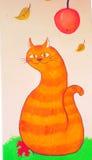 Katzenzeichnung Stockfoto