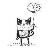 Katzenzeichnung vektor abbildung