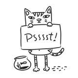 Katzenzeichnung lizenzfreie abbildung