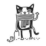 Katzenzeichnung stock abbildung