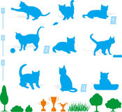 Katzeschattenbild Lizenzfreie Stockbilder