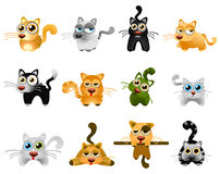 Katzevektor Lizenzfreie Stockfotos