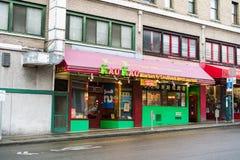 Kau Kau市场和海鲜餐馆西雅图华盛顿 免版税库存图片