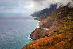 kauai ακτών pali NA Στοκ Εικόνες