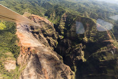 Kauai βουνά στο τροπικό νησί της Χαβάης Kauai Στοκ Εικόνα