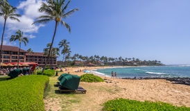 kauai παραλιών poipu στοκ εικόνα με δικαίωμα ελεύθερης χρήσης