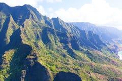 Kauai aerial view royalty free stock photo