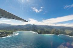 Kauai berg på den tropiska Hawaii ön av Kauai Arkivfoton