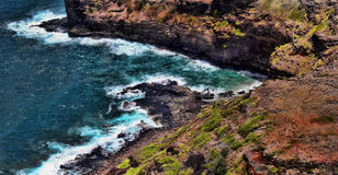Kauai Cliffs. Pacific Coast Cliffs in Kauai Royalty Free Stock Images