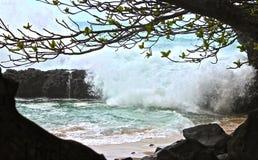 Kauai Coast. Taken from a secluded beach in Kauai Stock Photo