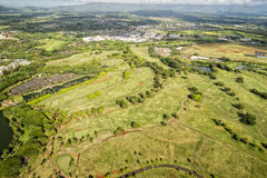 Kauai golf course in Hawaii Royalty Free Stock Photography