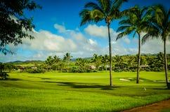 Kauai golfbana, hawaianska öar Royaltyfria Bilder