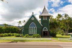 Kauai hanalei. Little green church on the north shore of Kauai in Hanalei Royalty Free Stock Image