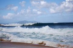 Kauai, Havaí escava um túnel a praia Fotos de Stock Royalty Free