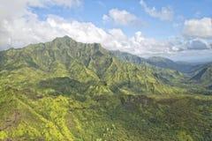 Kauai hawaii island mountains aerial view Royalty Free Stock Image