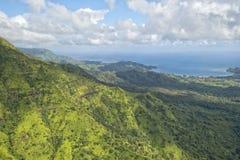 Kauai hawaii island mountains aerial view Stock Images