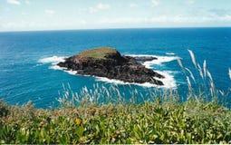 Paradise Island. Kauai Hawaii island off the coast in beautiful turquoise ocean Stock Image
