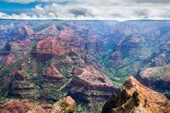 Kauai Hawaii kanjon Royaltyfria Bilder