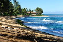 Kauai Hawaii Pacific Ocean beach scene, Stock Images
