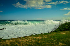 Kauai, Hawaiian Islands Angry Surf. High surf in Kauai with hurricane lurking offshore Royalty Free Stock Photos