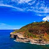 Kauai Headlands. Bird nesting colony at Kilauea lighthouse bay in Kauai, Hawaii Islands Royalty Free Stock Images