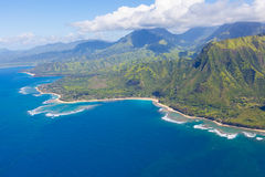 Kauai from helicopter Stock Photo