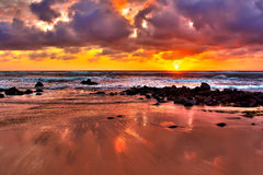 kauai imponerande föreställningsoluppgång Arkivbild