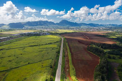 Kauai island. Aerial viewpoint of Kauai island in Hawaii Royalty Free Stock Photography