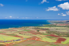 Kauai island from the air Stock Images