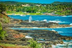 Kauai kustlinje, hawaianska öar Arkivfoto