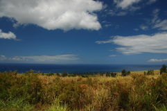 Kauai-Land-Meer und Himmel Stockbild