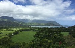Kauai landskap Arkivfoton