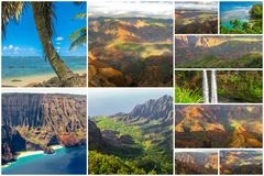 Kauai landskap collage Royaltyfria Foton