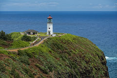 Kauai-Leuchtturm kilauea Punkt lizenzfreies stockfoto