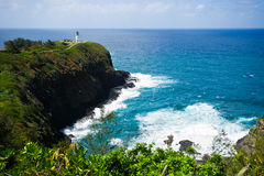 Kauai lighthouse kilauea point royalty free stock photography