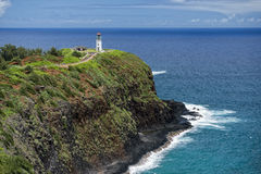 Kauai lighthouse kilauea point Royalty Free Stock Photo
