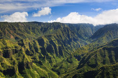 Kauai Lush Tropical Landscape Royalty Free Stock Photos