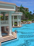 Kauai Marriot. The pool of the Marriott Resort and Beach Club in Lihue, Hawaii (the island of Hawaii Stock Photography