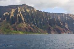 Kauai Na Pali Coast 1. Landscape view of Kauai's Na Pali Coast with jagged mountains and the Pacific Ocean Stock Image