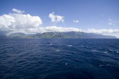 Kauai from the Pacific Ocean Stock Photography
