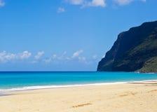 Kauai, Polihale State Park. Beautiful day to Kauai, Hawaii Stock Images